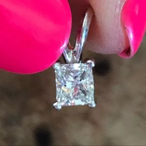 Jewelry - 14k Gold 0.50 Carat Diamond Stud Necklace Pendant